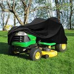 NEH-Deluxe-Riding-Lawn-Mower-Tractor-Cover-Fits-Decks-up-to-54-Black-Water-Mildew-and-UV-Resistant-Storage-Cover-0
