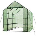 Ogrow-2-Tier-12-Shelf-Portable-Garden-Walk-in-Greenhouse-117-x-67-x-83-Dark-Green-0