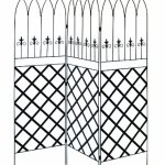 Panacea-89660-Gothic-Garden-Screen-Trellis-with-Lattice-72-Inch-Black-0