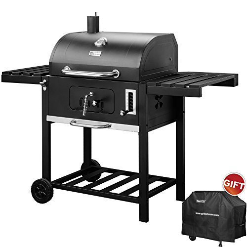 RoyalGourmet Patio Charcoal Grill 590 Square Inches Cooking Area Barbecue  Smoker CD1824