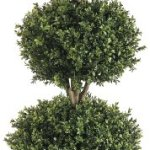 Silk-Decor-4-Feet-Tri-Ball-Boxwood-Topiary-Plant-GreenTwo-tone-0