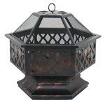 Zeny-Fire-Pit-Hex-Shaped-Fireplace-Outdoor-Home-Garden-Backyard-FirepitOil-Rubbed-Bronze-Bronze-0-0