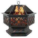 Zeny-Fire-Pit-Hex-Shaped-Fireplace-Outdoor-Home-Garden-Backyard-FirepitOil-Rubbed-Bronze-Bronze-0