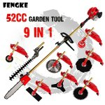 FENGKE-2018-2-stroke-52cc-175kw-9-in-1-Pole-Chainsaw-Hedge-Trimmer-Brush-Cutter-Grass-Trimmer-Whipper-Snipper-Pruner-Line-Tree-0
