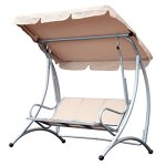 3-Person-Steel-Outdoor-Patio-Porch-Swing-Chair-with-Adjustable-Canopy-Rocker-0