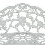 40-Antique-Rose-Pattern-Garden-Bench-Sturdy-Aluminum-Cast-Frame-Outdoor-Seats-Chair-Home-Backyard-Deck-Porch-Furniture-Decor-Antique-White-1854wht-0-2