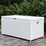 40-White-Resin-Wicker-Outdoor-Patio-Garden-Hinged-Lidded-Storage-Deck-Box-0-0