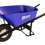 Bon-28-900-Premium-Contractor-Grade-Steel-Single-Wheel-Wheelbarrow-with-Steel-Hande-and-Knobby-Tire-6-Cubic-Feet-0