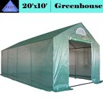 DELTA-Canopies-Greenhouse-20×10-Triangle-Top-Large-Heavy-Duty-Green-House-Walk-in-Hothouse-140-lbs-By-0