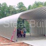 Duro-Span-Steel-G25x30x13-Metal-Building-Kit-Direct-Residential-Drive-Through-Carport-Garage-0