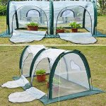 Garden-Plant-Tent-FOME-PE-Plant-Tunnel-Waterproof-Durable-Cloche-Greenhouse-for-Plants-Outdoor-Portable-Greenhouses-with-Two-Zipper-Doors-Backyard-Flower-Shelter-788x394x394-inch-0-1