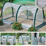 Garden-Plant-Tent-FOME-PE-Plant-Tunnel-Waterproof-Durable-Cloche-Greenhouse-for-Plants-Outdoor-Portable-Greenhouses-with-Two-Zipper-Doors-Backyard-Flower-Shelter-788x394x394-inch-0