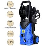 Globe-House-Products-GHP-1800W-2030PSI-17GPM-IPX5-Blue-Electric-High-Pressure-Washer-with-Hose-Reel-0-0