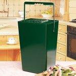 Green-Portable-IndoorOutdoor-Garden-Compost-Bin-Holds-95-Quarts-0-0