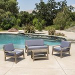 Grenada-Outdoor-Grey-Finished-Acacia-Wood-4-Piece-Chat-Set-with-Dark-Grey-Water-Resistant-Cushions-0