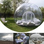 HUKOER-Stylish-Conservatory-Play-Area-for-Children-Greenhouse-or-GazeboOutdoor-Single-Tunnel-Inflatable-Bubble-TentFamily-Camping-Backyard-Transparent-Tent-With-Blower-0-1