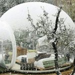 HUKOER-Stylish-Conservatory-Play-Area-for-Children-Greenhouse-or-GazeboOutdoor-Single-Tunnel-Inflatable-Bubble-TentFamily-Camping-Backyard-Transparent-Tent-With-Blower-0
