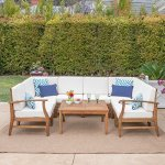 Lorelei-Outdoor-8-Seater-Teak-Finished-Acacia-Wood-Sectional-Sofa-and-Table-Set-with-Cream-Water-Resistant-Cushions-0