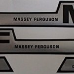 M609H1-Hood-Decal-Set-wMF-Hump-Diesel-Decals-Made-For-Massey-Ferguson-Tractor-255-0