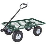 Mecor-Yard-Wagon-Cart-Garden-Utility-Lawn-Heavy-Duty-Steel-Cart-with-WheelsFlat-Free-Tires-660lbs-Multifunctional-Pulling-Wagon-0