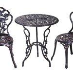 Merax-3-Piece-Cast-Aluminum-Patio-Furniture-Outdoor-Bistro-Set-Red-Copper-0