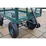 Oakland-Living-Corporation-450-lb-Weight-Capacity-Garden-Cart-with-Adaptor-Handle-in-Green-0-2