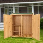 Outdoor-Wooden-Garden-Shed-Medium-Storage-Shed-Lockable-Storage-Unit-with-Double-Doors-0-2