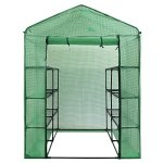 Palm-Springs-12-Shelf-Walk-in-Greenhouse-Cover-with-Roll-Up-Zipper-Door-0-0