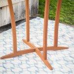 Patio-Bistro-Set-Outdoor-Wood-Round-Natural-0-1