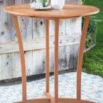 Patio-Bistro-Set-Outdoor-Wood-Round-Natural-0
