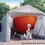 ShelterLogic-15x28x12-Peak-Style-Shelter-Gray-0