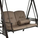 Sunnydaze-Outdoor-Porch-Swing-Loveseat-with-Adjustable-Canopy-and-Steel-Frame-Cushions-and-Pillow-Included-2-Person-Patio-Seater-Beige-0-1