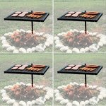 Texsport-Heavy-Duty-Barbecue-Swivel-Grill-for-Outdoor-BBQ-over-Open-Fire-Pack-of-4-0-0