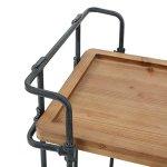 Waldman-Antique-Finish-Fir-Wood-and-Iron-Coffee-Cart-0-2