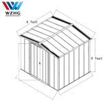 Weizhengheng-Color-Steel-Outdoor-Storage-Shed-Lifetime-Garden-Shed-5-X-6-ft-0-1