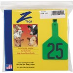 Z-Tags-1-Piece-Pre-Numbered-Hot-Stamp-Tags-for-Cows-Numbers-from-101-to-125-Green-0