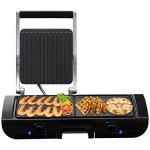 totoshop-New-1500W-Electric-2-In-1-Multi-Grill-Griddle-Sandwich-Maker-with-Nonstick-Plates-0