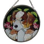 10-piece-pack-35-inch-diameter-Hand-painted-Glass-Home-Decor-Sun-Catcher-Puppy-Dog-0