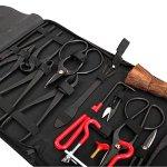 14Pcs-Bonsai-Tools-Kit-Set-Carbon-Steel-Cutter-Scissors-Shears-Tree-Nylon-Case-0-2