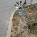 4-Ft-Premium-Aluminum-Decorative-Garden-Windmill-Green-Trim-0-2