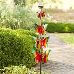 4-Tier-Coloful-Butterfly-Solar-LED-Wind-Spinner-Outdoor-Yard-Garden-Kinetic-Art-Sculpture-8-Dia-x-48-H-0