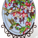 Amia-5668-Large-Oval-Suncatcher-with-Hummingbird-and-Fuchsia-Design-6-12-Inch-W-by-9-Inch-L-Hand-painted-Glass-0