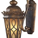 Burlington-Junction-2-Light-Outdoor-LED-Wall-Sconce-in-Hazlenut-Bronze-and-Amber-Scavo-Glass-0