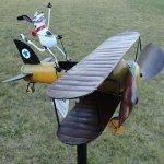 CHSGJY-Aviator-Spike-Whirligig-Airplane-Dog-Wind-Powered-Spinner-Vintage-Style-Plane-Yard-Garden-Outdoor-Living-Decor-0