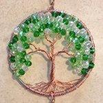 Crystal-Sun-Catcher-Tree-of-Life-Window-Ornament-with-30mm-Crystal-Ball-Prism-Handmade-Window-Ornament-Feng-Shui-Healing-Crystal-Gemstone-Wire-Tree-SuncatcherGreen-Crystals-0-0