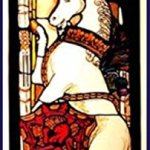 Decorative-Hand-Painted-Stained-Glass-Window-Rectangular-Panel-in-an-Edinburgh-Unicorn-Design-0