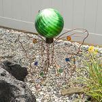 Echo-Valley-8201-10-Chrome-Swirl-Gazing-Globe-Green-0-0
