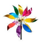 Evergreen-Floral-Wind-Outdoor-Safe-Kinetic-Wind-Spinning-Topper-Pole-Sold-Separately-0