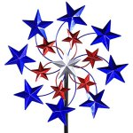Exhart-Star-Spangled-Garden-Spinner-Metal-and-Resin-Metalic-Paint-Kinetic-Red-White-and-Blue-20-L-x-7-W-x-83-H-0