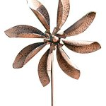 Gardman-8434-Zinnia-Flower-Wind-Spinner-Border-Stake-63-High-x-20-Wide-0